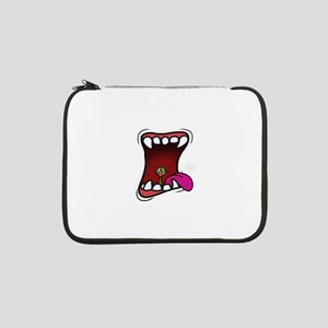 """Mouth with Fuzzy 13"""" Laptop Sleeve"""