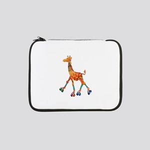 "Roller Skating Giraffe 13"" Laptop Sleeve"
