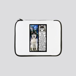 "Siberian Husky Dog Laws Rules 13"" Laptop Sleeve"