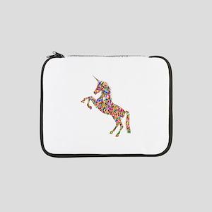 "Prismatic Rainbow Unicorn 13"" Laptop Sleeve"