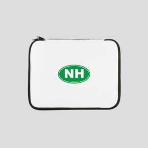 "New Hampshire NH Euro Oval 13"" Laptop Sleeve"