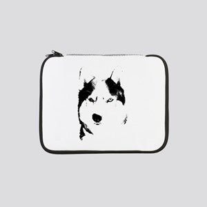 "Husky Bi-Eye Husky Dog 13"" Laptop Sleeve"