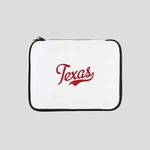 """Texas Script Font Vintage 13"""" Laptop Sleeve"""