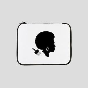 "vintage black afro american woma 13"" Laptop Sleeve"