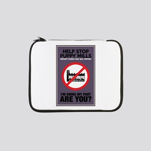 "Stop Puppy Mills 13"" Laptop Sleeve"