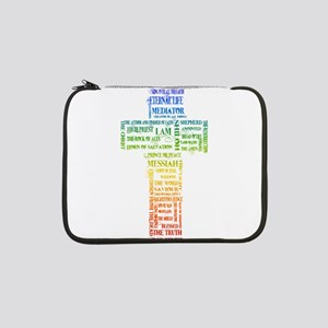 "Names of Jesus Cross 13"" Laptop Sleeve"