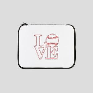 "Love Baseball Classic 13"" Laptop Sleeve"