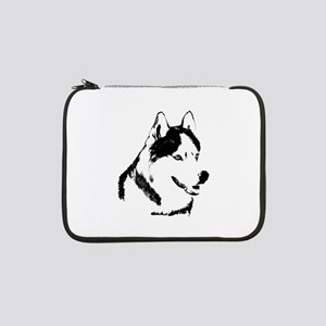 "Husky Malamute Sled Dog Art 13"" Laptop Sleeve"