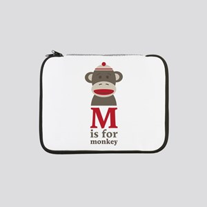 "M Is For Monkey 13"" Laptop Sleeve"