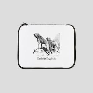 """rhodesian ridgeback vintage darks 13"""" Laptop Sleev"""