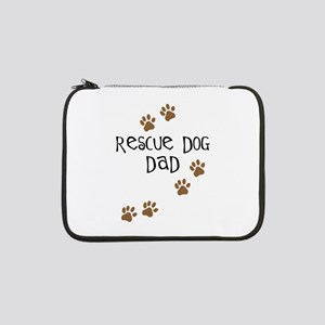 "rescue dog dad 13"" Laptop Sleeve"