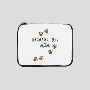 """rescue dog mom 13"""" Laptop Sleeve"""