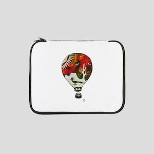 Hot Air Balloon In Silkscreen - RED 13&Quot; Lapto