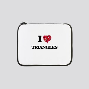 "I love Triangles 13"" Laptop Sleeve"