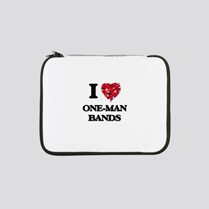 """I love One-Man Bands 13"""" Laptop Sleeve"""
