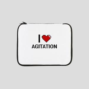 "I Love Agitation Digitial Design 13"" Laptop Sleeve"
