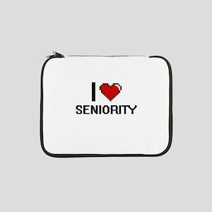 "I Love Seniority Digital Design 13"" Laptop Sleeve"