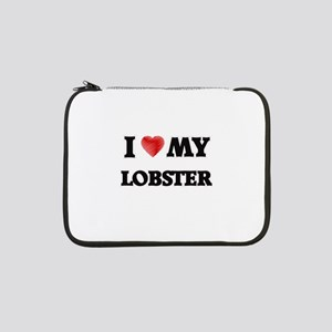 "I Love My Lobster food design 13"" Laptop Sleeve"