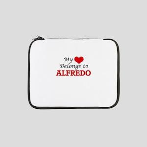 """My heart belongs to Alfredo 13"""" Laptop Sleeve"""