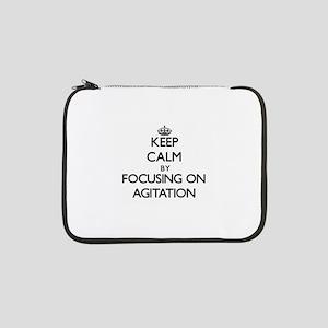 "Keep Calm by focusing on Agitati 13"" Laptop Sleeve"