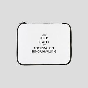"""Keep Calm by focusing on Being U 13"""" Laptop Sleeve"""