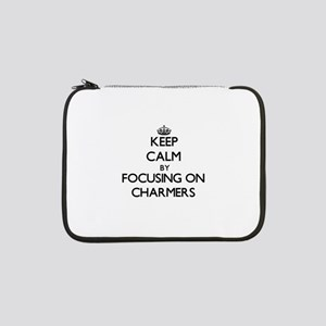 "Keep Calm by focusing on Charmer 13"" Laptop Sleeve"