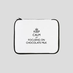 "Keep Calm by focusing on Chocola 13"" Laptop Sleeve"