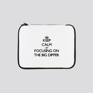 """Keep Calm by focusing on The Big 13"""" Laptop Sleeve"""
