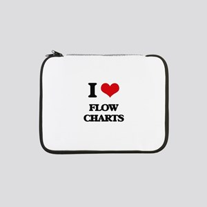 "I Love Flow Charts 13"" Laptop Sleeve"