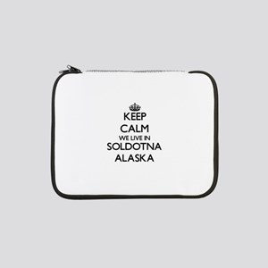 "Keep calm we live in Soldotna Al 13"" Laptop Sleeve"