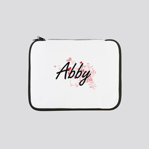 "Abby Artistic Name Design with H 13"" Laptop Sleeve"