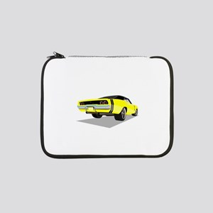 """1968 Charger in Yellow with Blac 13"""" Laptop Sleeve"""