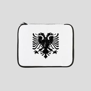 "albania_eagle_distressed 13"" Laptop Sleeve"