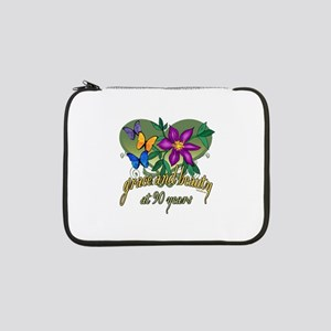 "90th Birthday Grace and Beauty 13"" Laptop Sleeve"