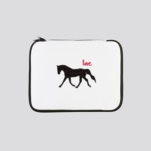 """Horse with Hearts 13"""" Laptop Sleeve"""