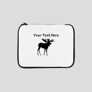 "Custom Moose Silhouette 13"" Laptop Sleeve"