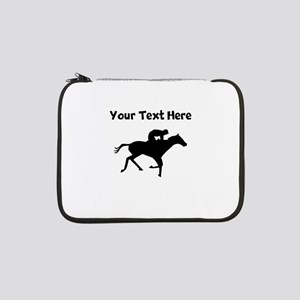 "Horse Racing Silhouette 13"" Laptop Sleeve"