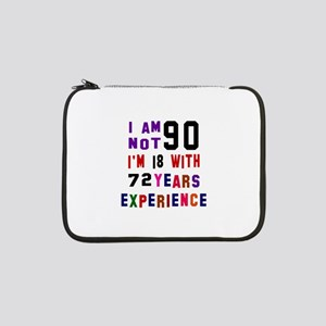 "90 Birthday Designs 13"" Laptop Sleeve"