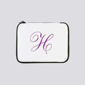 "Personalized Monogram Initial 13"" Laptop Sleeve"