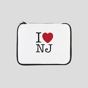 "I Love NJ New Jersey 13"" Laptop Sleeve"