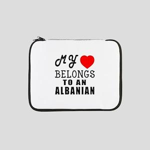 "I Love Albanian 13"" Laptop Sleeve"