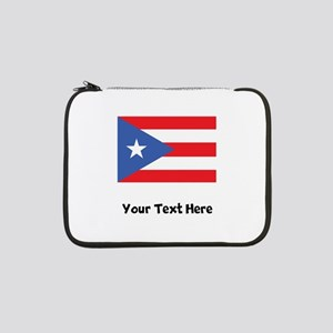 "Puerto Rican Flag 13"" Laptop Sleeve"