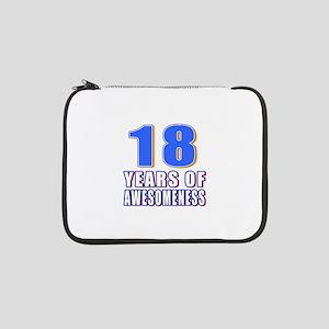 "18 Years Of Awesomeness 13"" Laptop Sleeve"