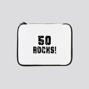 "50 Rocks Birthday Designs 13"" Laptop Sleeve"