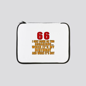 "66 Birthday Designs 13"" Laptop Sleeve"