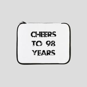 "Cheers To 98 Years Designs 13"" Laptop Sleeve"