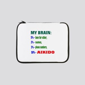 """My Brain, 90% For Aikido 13"""" Laptop Sleeve"""