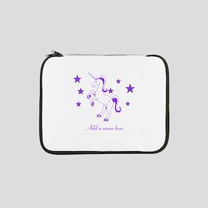 "Personalizable Unicorn 13"" Laptop Sleeve"