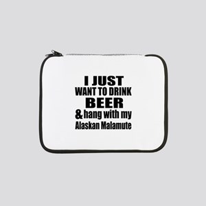 "Hang With My Alaskan Malamute 13"" Laptop Sleeve"