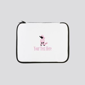 """French Poodle Pink 13"""" Laptop Sleeve"""